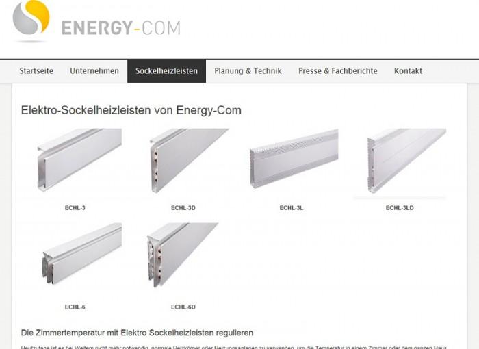 Sockelheizleisten - energiesparend heizen